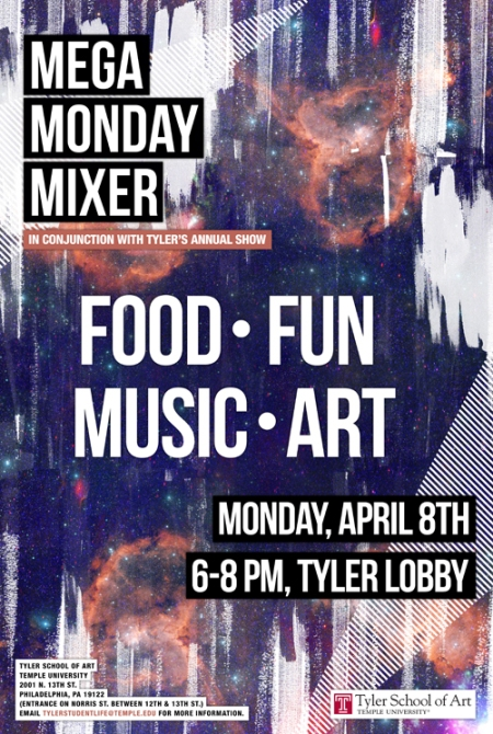 Mega Monday Mixer Poster