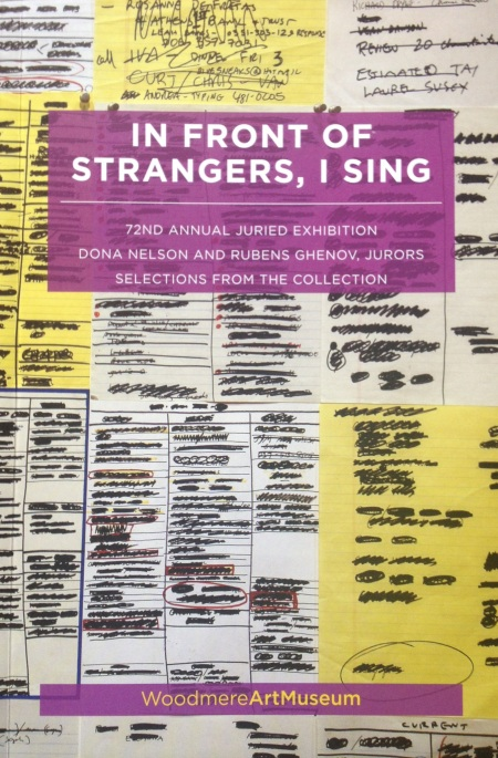 """In Front of Strangers, I Sing"" exhibition catalogue. Courtesy of Professor Dona Nelson."